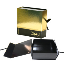 Custom Beautiful Lipstick Cosmetic Gold Paper Box