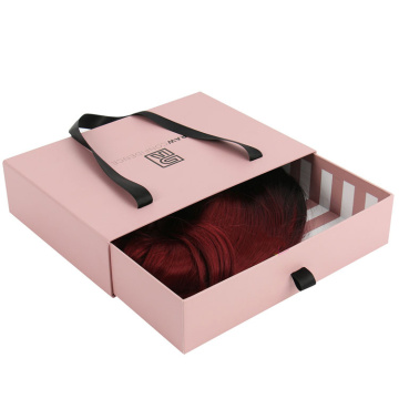 Custom Paper Drawer Hair Extension Box Packaging