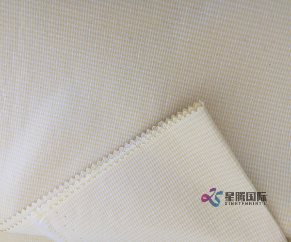 Checked Jacquard Cotton Fabric
