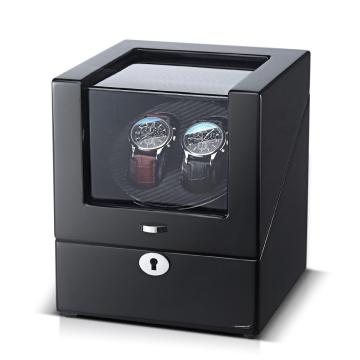 Black Finish Watch Winder For 2 Watches