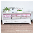 High Quality Wooden Cabinet shabby furniture paulownia clothes cabinet
