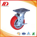 5'' Brake heavy duty caster with pu wheels