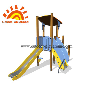Yellow Slide Outdoor Playground Facility For Sale