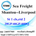Shantou LCL shipping agent to Liverpool