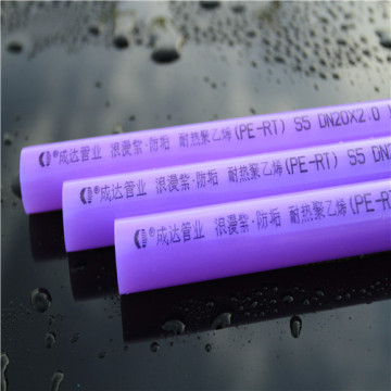 Purple anti-scaling PE-RT Floor Heating Pipes