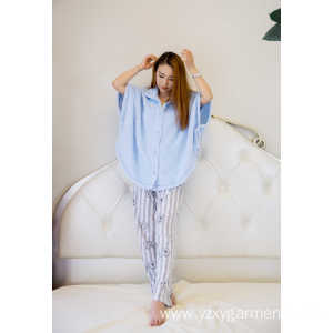 Factory Wholesale PriceList for Fashion Knit Pajama Skyblue flannel short poncho with bottons export to Barbados Factories