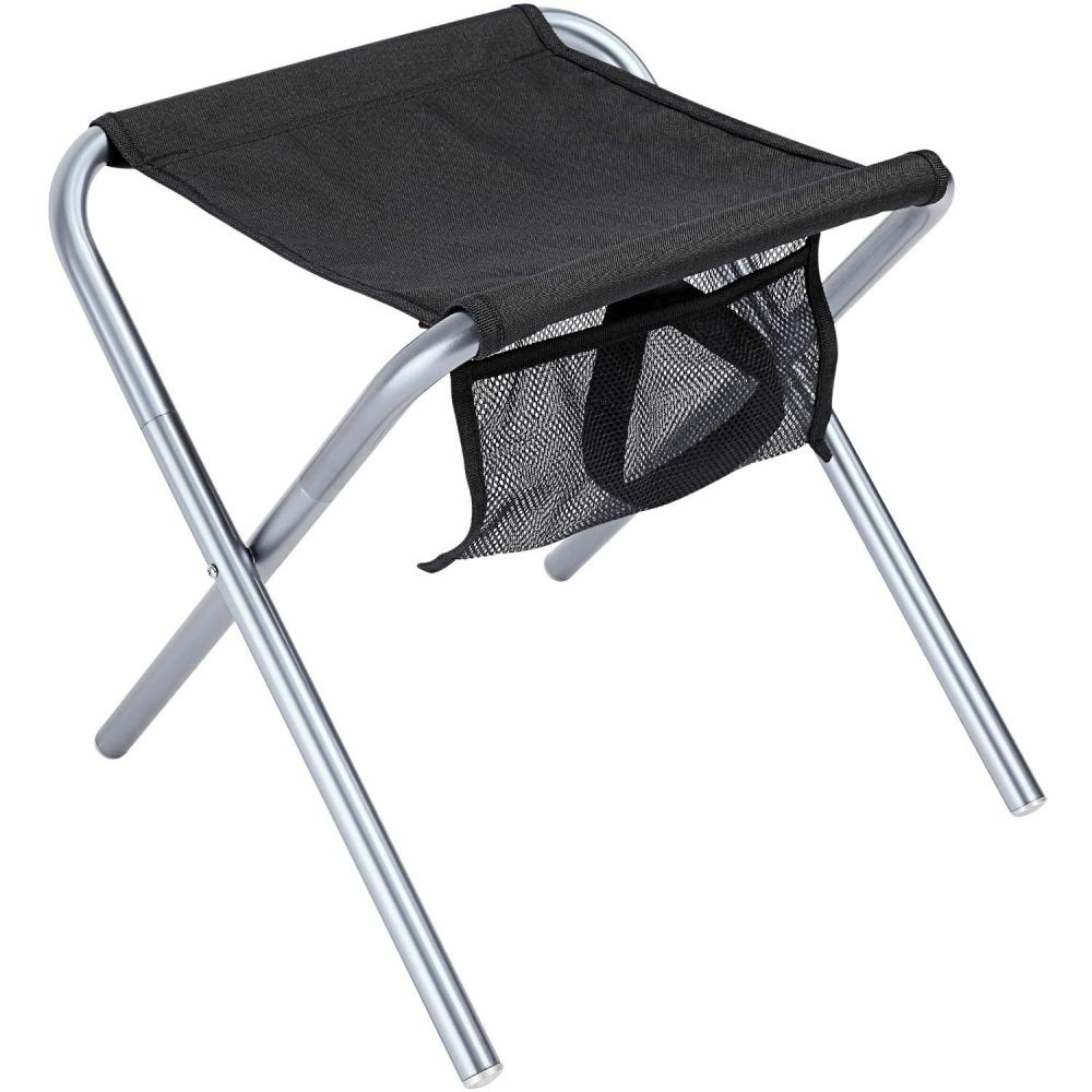 Stool With Mesh Storage Pouch