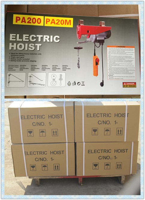 PA mini electric wire rope hoist package