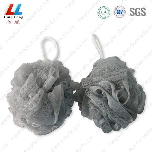 Normal mesh gray style bath sponge