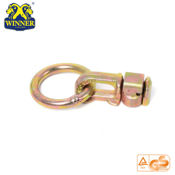 Zinc Plated L Track Double Stud Fitting With O Ring