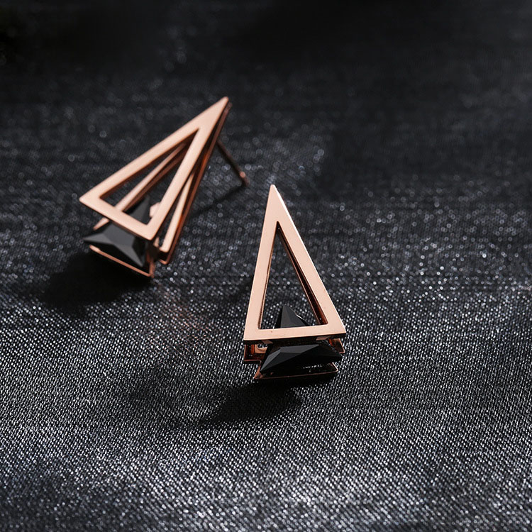 Triangle Cubic Zirconia Earrings