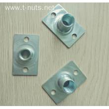 two holes square bottom T-nuts