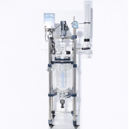 Double layer vacuum glass reactor 30l