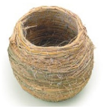 China for Wood Bird House Pot Shape Large Straw Bird Nest supply to United States Manufacturers