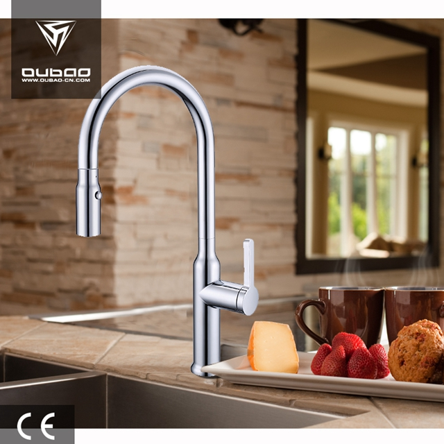 Luxurious Single Hole Single Lever Kitchen Faucet Mixer