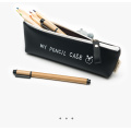 Creative high-capacity student leather pencil case