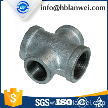 Cross Malleable iron pipe fittings