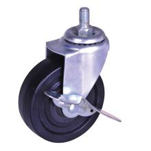 China Manufacturer for Stem Plastic Caster 4nch black PP Swivel Caster with brake supply to Russian Federation Supplier