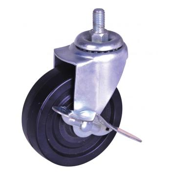 Quality Inspection for for Polypropylene Stem Casters,Polypropylene Wheel Caster,Stem Polypropylene Ball Wheel Caster Manufacturer in China 4nch black PP Swivel Caster with brake export to Sao Tome and Principe Suppliers