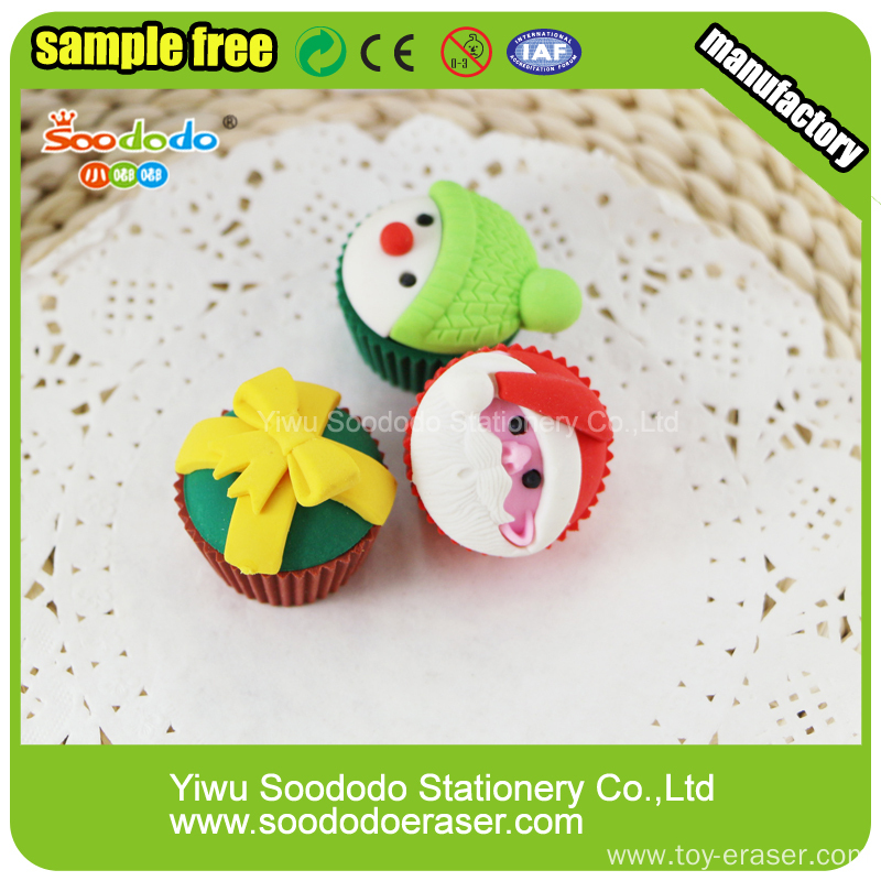 Festival Erasers Christmas Cake Erasers For Gift