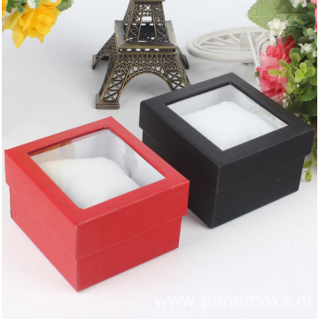 Clear Plastic Window Packaging Cardboard Display Watch Box