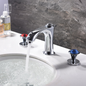 Full Brass Basin Mixer Chrome