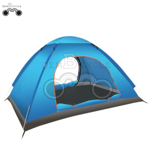 double door blue camping tent for 1-2 person
