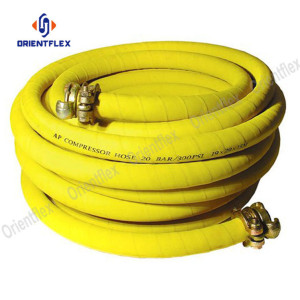 300psi Fabric braided coiled Compressed air rubber hose