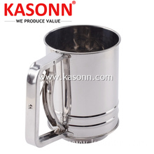 China New Product for Manual Flour Sifter Stainless Steel 3 Cup Icing Baking Sifter export to Croatia (local name: Hrvatska) Exporter