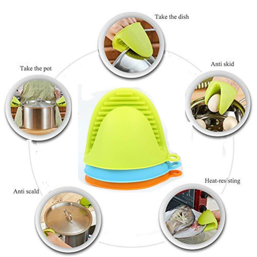 Heat Resistant Kitchen Baking Silicone Oven Mitts