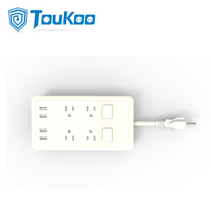 High Definition for Surge Protected 4-Outlet Power bar American 4 gang power strip with USB charger supply to Russian Federation Factories