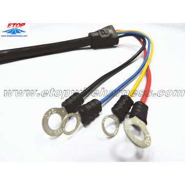 China Manufacturer for customized waterproofing cable assembly Molded cable with molded SR and ring terminal supply to Portugal Suppliers