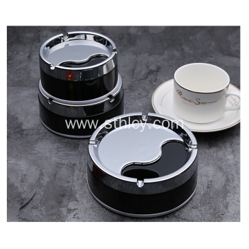Creative Round Stainless Steel Fashion Windproof  Ashtray