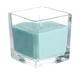 Square Shaped clear holder scented aroma jar candles