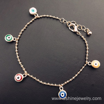 Link Chain Bracelet Jewelry Woman's Evil Eye Charm Bracelet