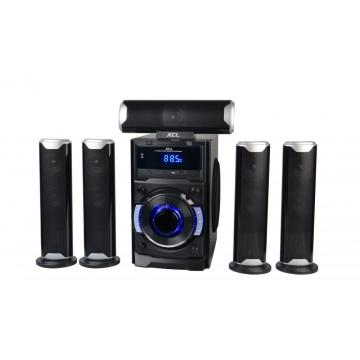 Multimedia amplified speaker 5.1 system with bluetooth