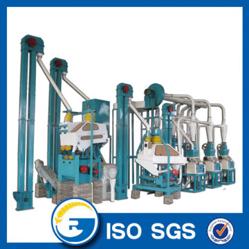 Small capacity 10 tons/day maize mill machine