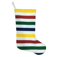 Cheap for Unique Christmas Stockings Christmas stripe stocking with rainbow style export to Portugal Manufacturers