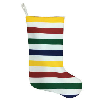 Christmas stripe stocking with rainbow style