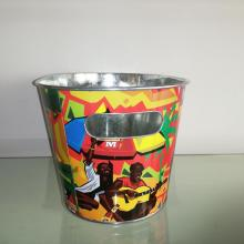 steel beer cooler round tin bucket