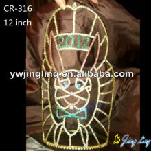 Hot Sale for Easter Tiara Crowns Animal Shape 12 Inch Big Easter Pageant Crown export to China Taiwan Factory