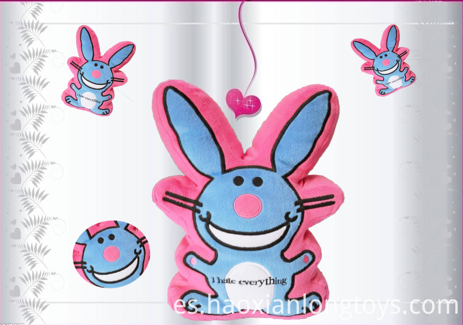 Victory gesture plush toy rabbit