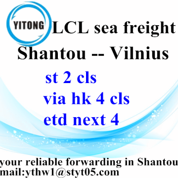 Good Quality for LCL Consolidators LCL Jieyang Mechanics Transport to Vilnius supply to Poland Factory