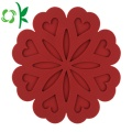 Silicone Red Decorative Coasters Sets Cheap