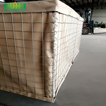 barrier for military bastion covered with geotextile cloth