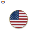 Personalized gold challenge coin flag