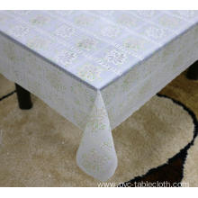 Printed pvc lace tablecloth by roll color