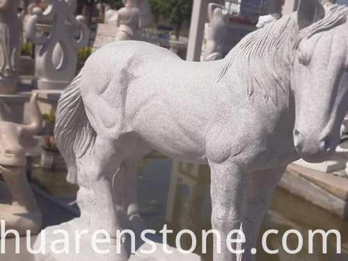 stone horse carving