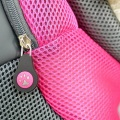 Pink Large PVC and Mesh Pet Backpack