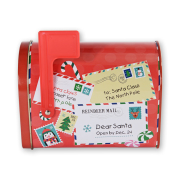 Custom Mail Shape Rectangle Christmas Tin Box